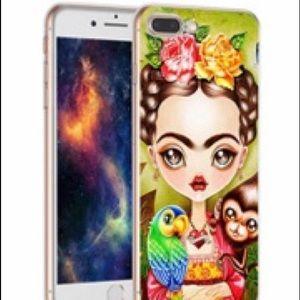 Accessories - Frida Kahlo cartoon color IPhone 7 phone case